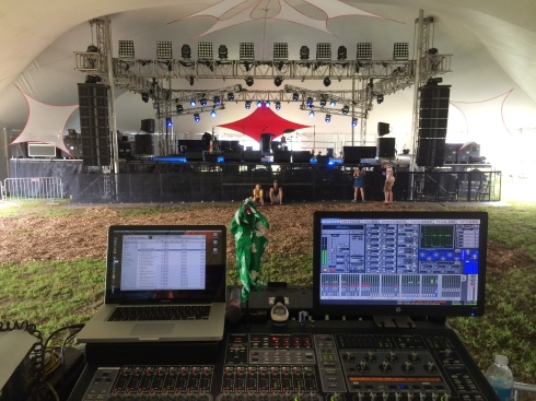 FOH at Wakarusa's 2014 Outpost Tent